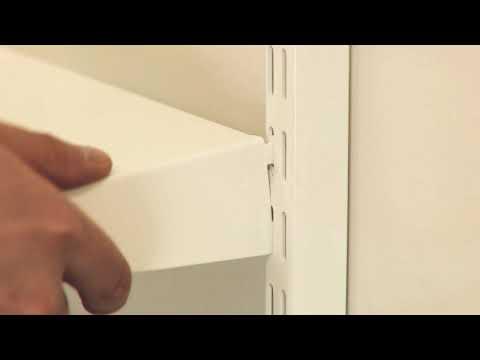 Assembly: Shelf/tray reversible metal