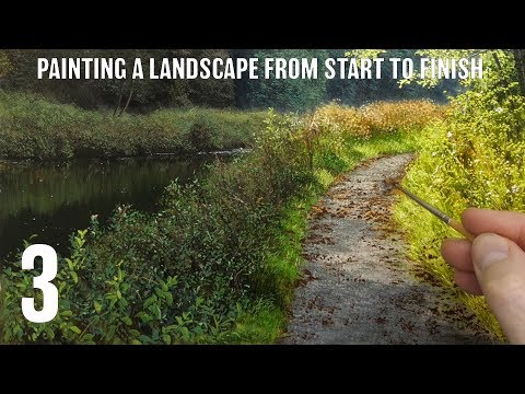 #130 how to paint a landscape from start to finish | Part 3
