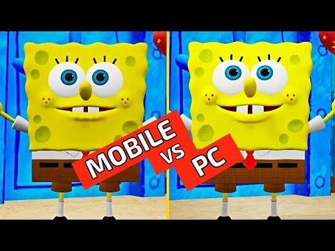 SpongeBob SquarePants Battle for Bikini Bottom Rehydrated   Mobile Vs PC Graphics Comparison