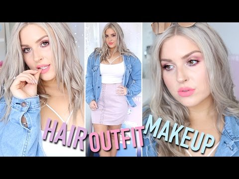 Get Ready With Me! SPRING EDITION ? Makeup, Outfit & Hair!