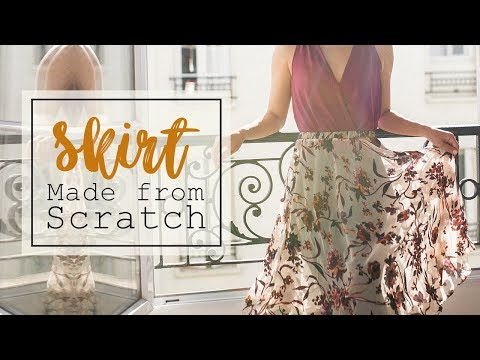 DIY Transparent Floral Skirt | Made From Scratch @Coolirpa