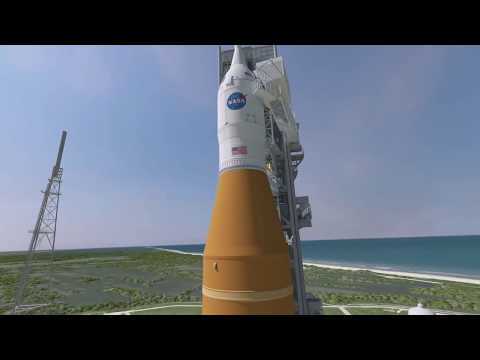 Media View Barge Pegasus and SLS Hardware on This…