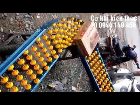 Băng Tải Con Lăn Bánh Xe Nhựa Vàng