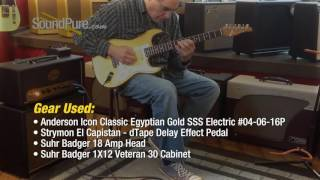 Anderson Icon Classic Egyptian Gold SSS Electric #04-06-16P
