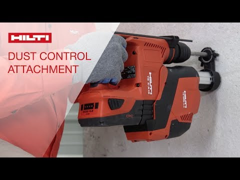 HOW TO use a Hilti combihammer with onboard Dust Removal System