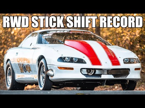 Fastest LT1 EVER and RWD Stick Shift Record! Camaro BLASTS to 196MPH in 7 Seconds