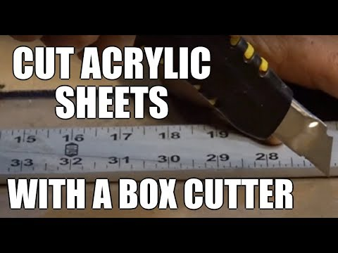 Acrylic cutting with any box cutter DIY $1 cutter Cut acrylic sheet Greenpowerscience