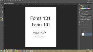 Photoshop CS6 Tutorial - 180 - Fonts 101