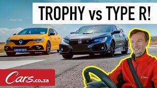 Drag Race! Honda Civic Type R против Renault Megane RS 300 Troph