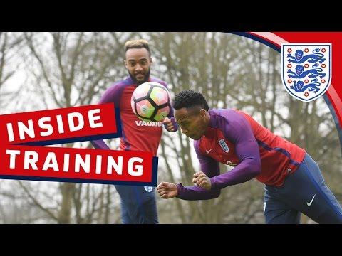 England heading challenge warm-up   Inside Training