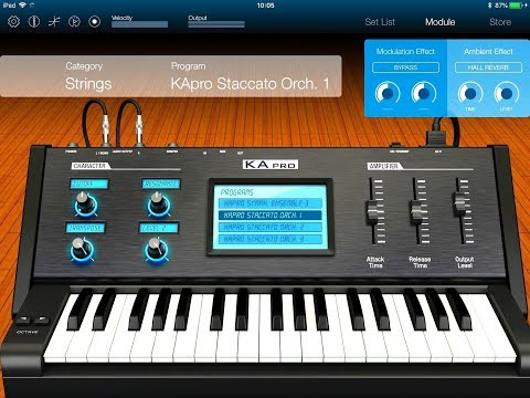 KORG Module - Let's Explore The KApro Orchestral Dreams Pack - iPad Demo