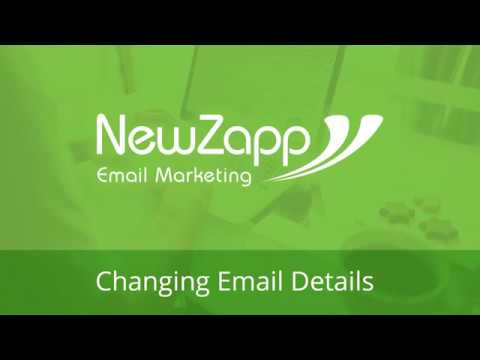 Changing Email Details