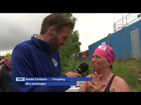 Annette Carlsson simmade sin 46:e Vansbrosimning 2017