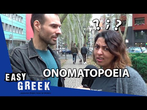 How does Onomatopoeia sound in other languages? | Easy Greek 45 photo