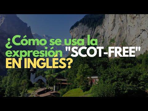 """HOY aprenderás a usar """"SCOT-FREE"""" en inglés"""