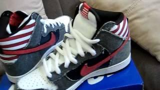 Nike Dunk High SB Born in the USA - YouTube