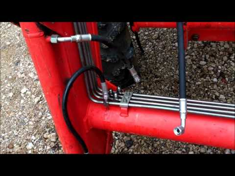 Changng Hydraulic Hoses On Front Loader