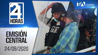 Noticias Ecuador: Noticiero 24 Horas, 24/09/2020 (Emisión Central)