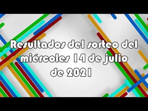 Lotería de Panamá - Resultados del sorteo del miércoles 14 de julio de 2021