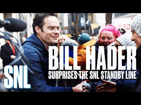connectYoutube - Bill Hader Surprises the Standby Line with SNL Tickets
