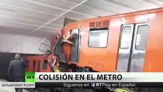 El choque de trenes en el Metro de México deja al menos un muerto y decenas de heridos