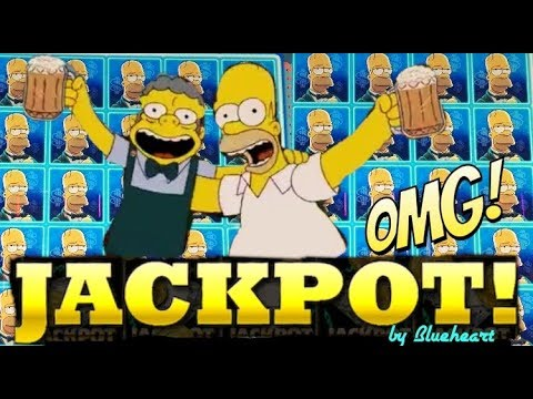 connectYoutube - ★ CRAZY JACKPOT! ★ THE SIMPSONS slot machine JACKPOT HANDPAY WIN !