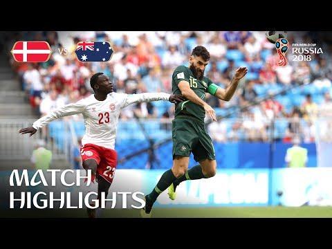 ملخص وأهداف مباراة الدنمارك و أستراليا