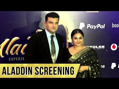Couple Vidya Balan And Siddharth Roy Kapur Attend Disney Aladdin Screening Mumbai