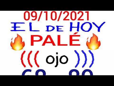 NÚMEROS PARA HOY 09/10/21 DE OCTUBRE PARA TODAS LAS LOTERÍAS...!! Números reales 05 para hoy...!!