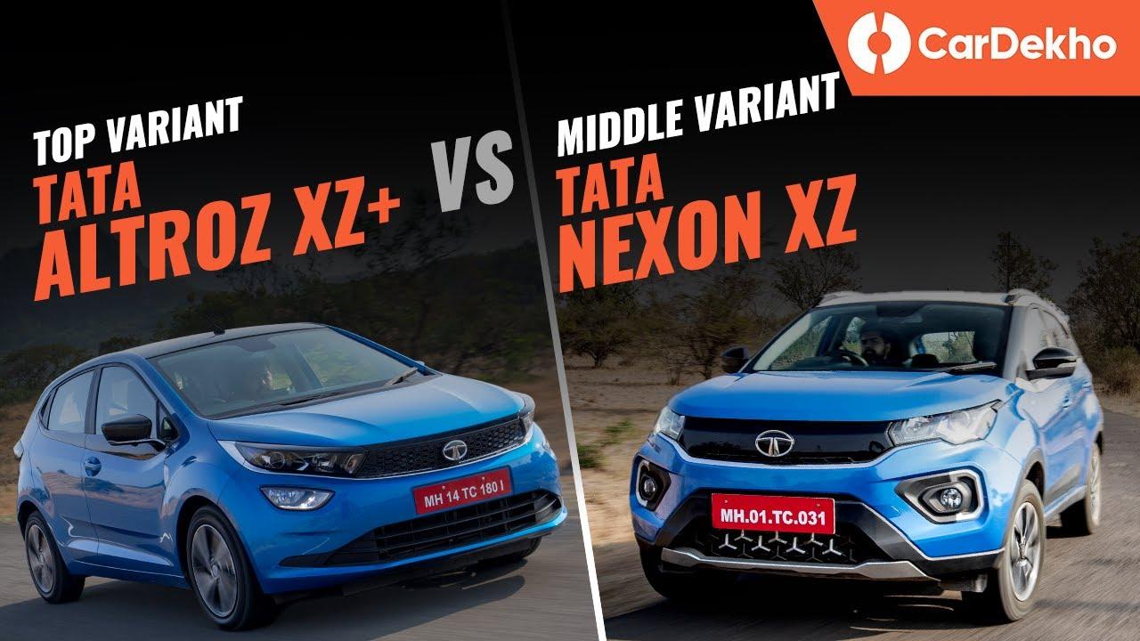 Tata Altroz XZ+ vs Tata Nexon XZ | Picking the right turbo-petrol | CarDekho.com
