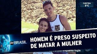 Homem é preso suspeito de estrangular a mulher no Rio de Janeiro | SBT Brasil (03/07/20)