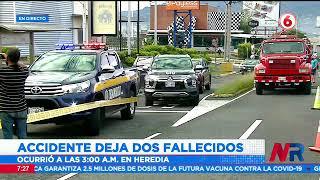 Dos fallecidos en accidente de tránsito en Heredia