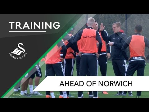 VIDEO: Watch Andre Ayew train with Swansea teammates ahead of Norwich City trip