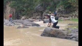Buscan a persona que cayó al río Pacanac