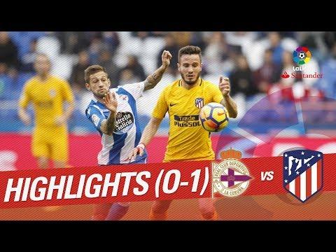 Resumen de RC Deportivo vs Atlético de Madrid (0-1)