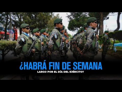 ¿Habrá fin de semana largo por el Día del Ejército