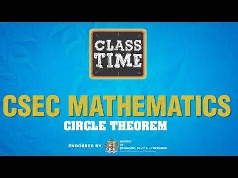 CSEC Mathematics - Circle Theorem - June 21 2021