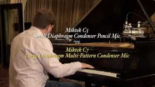 SDC vs LDC Microphone Comparison: Miktek C5 & C7 Microphones on Grand Piano