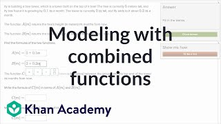 Modeling with combined functions