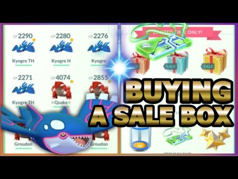 connectYoutube - MY KYOGRE COLLECTION IN POKEMON GO & BUYING A RAID PASS SPECIAL SALE BOX