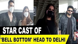 Akshay Kumar, Vaani Kapoor, Lara Dutta head to Delhi for 'Bell Bottom' trailer launch - IANSINDIA