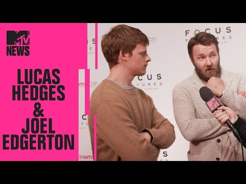 Lucas Hedges & Joel Edgerton on 'Boy Erased' | CinemaCon | MTV News