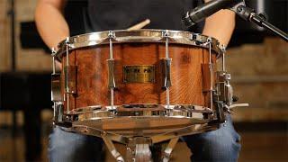 Pork Pie 6 5x14 Oak Snare Drum Redwood Burl - Quick 'n' Dirty