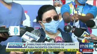 Habilitado el polideportivo de la UNAH para pacientes con Covid-19
