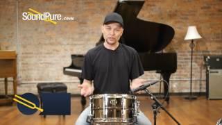 Ludwig 7x13 Black Magic Brass Snare Drum - Chrome, Quick n' Dirty