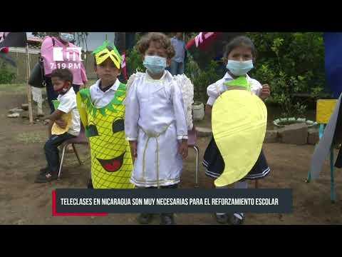 Teleclases en Nicaragua son muy efectivas en el reforzamiento escolar