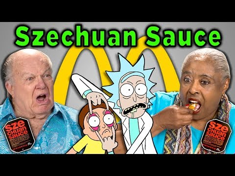 connectYoutube - ELDERS REACT AND TRY McDONALD'S SZECHUAN SAUCE (Rick and Morty)