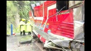 Siete heridos en accidente de tránsito en Mixco