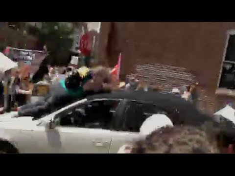 RAW: Car Mows Down Antifa, BLM at Unite The Right Charlottesville