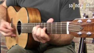 Goodall AKP-14 Koa Parlor Acoustic 5528 Guitar Demo at Sound Pure